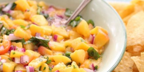 Okanagan Peach Basil Salsa, by Fraiche Nutrition