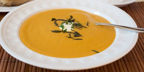 Pear and Sweet Potato Soup