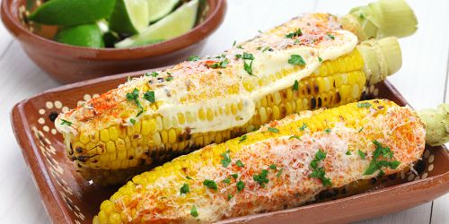 Healthy Mexican Corn on the Cob