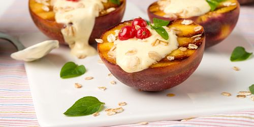 BBQ Peaches with Camembert
