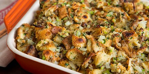 Slow Cooker Fresh Herb Stuffing