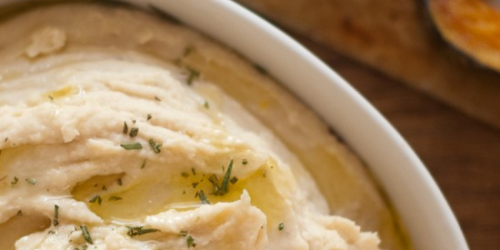 Roasted Garlic and White Bean Hummus