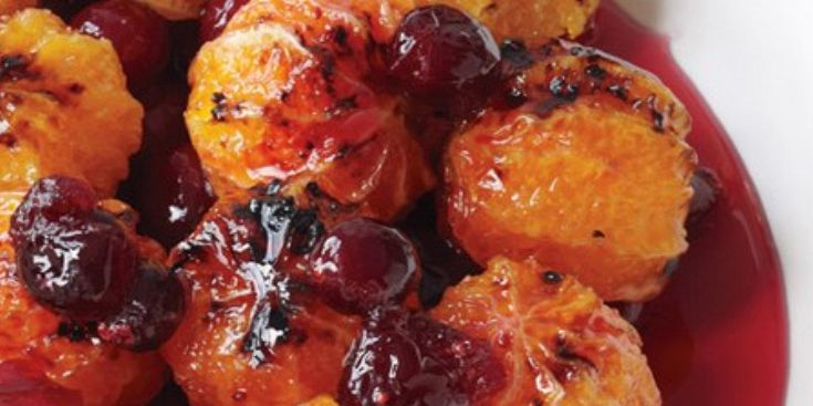 Candied Cranberries and Mandarin Oranges
